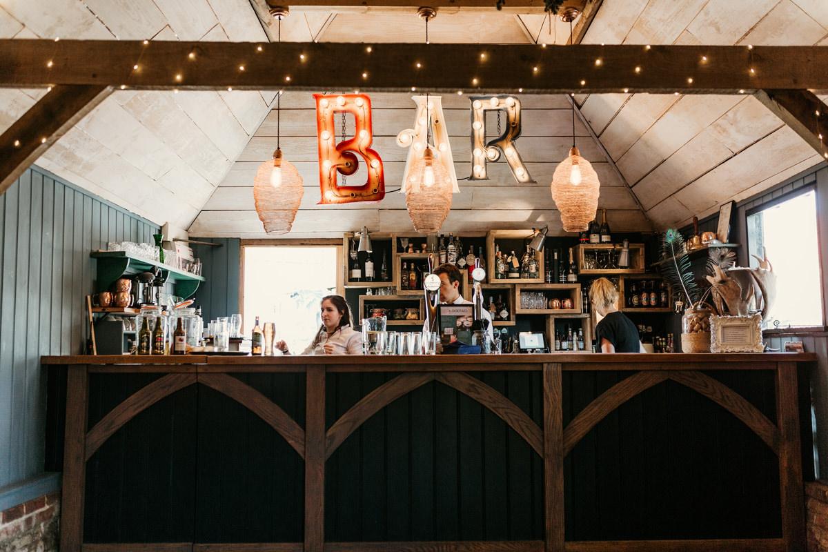 bar area at preston court wedding venue by Canterbury wedding photographers