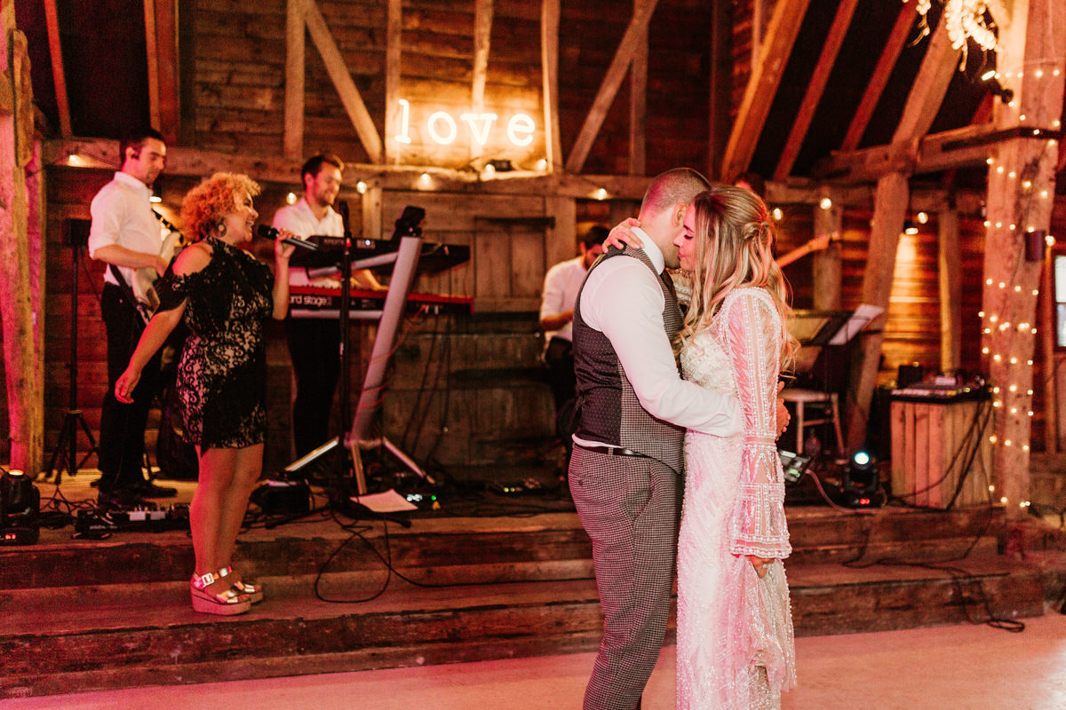 first dance at preston court wedding venue by Canterbury wedding photographers