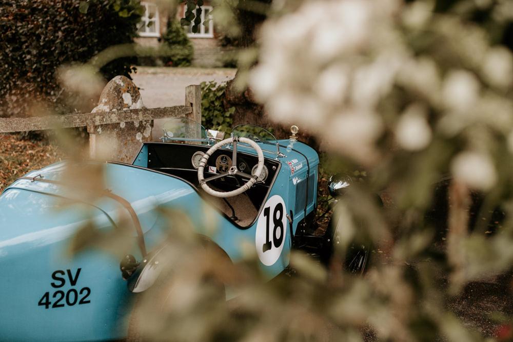 blue Austin 7 Ulster vintage car