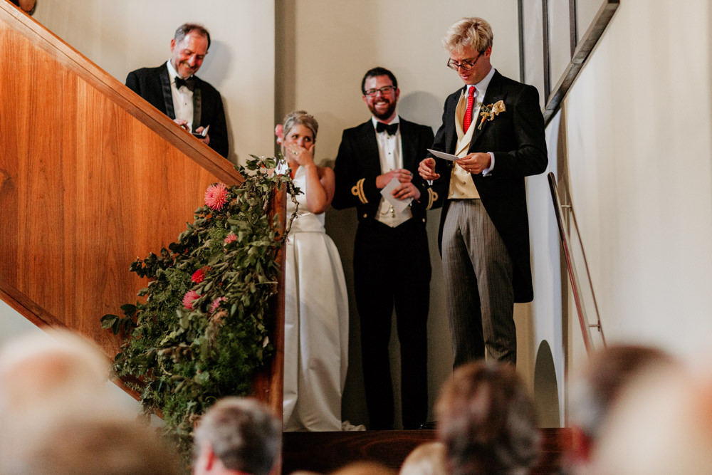 emotional speeches at The Kennels Goodwood wedding venue West Sussex