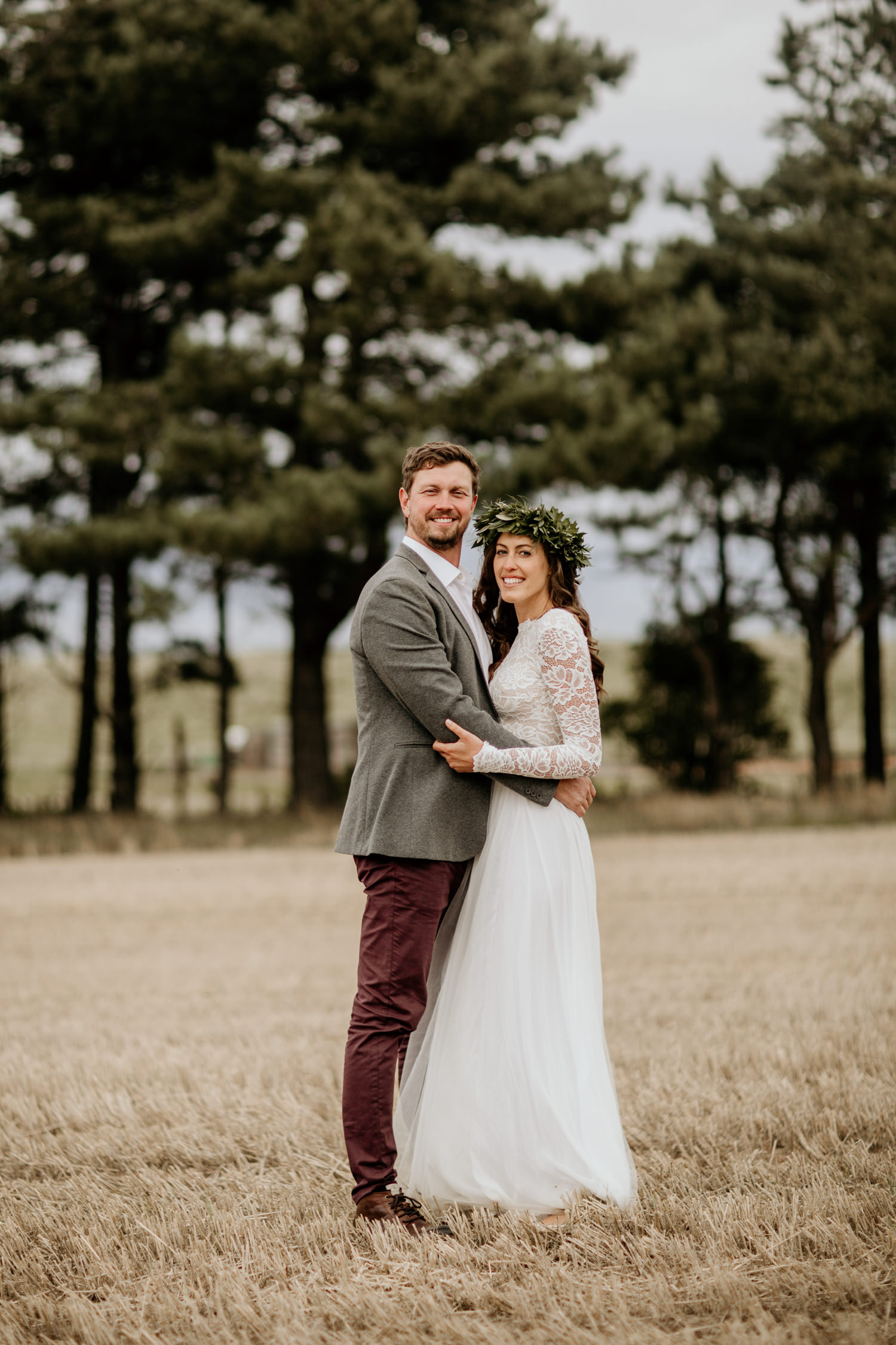 bride and groom portrait for their Harvest Moon Holidays Scotland