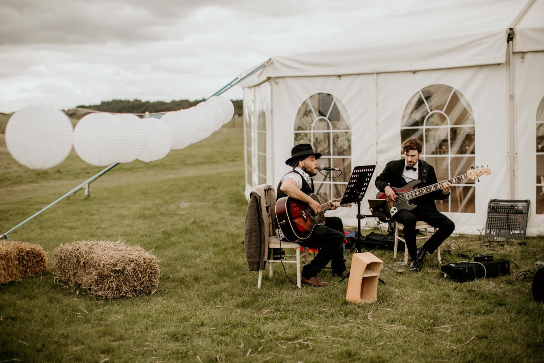 live band playing at Harvest Moon Holidays Scotland
