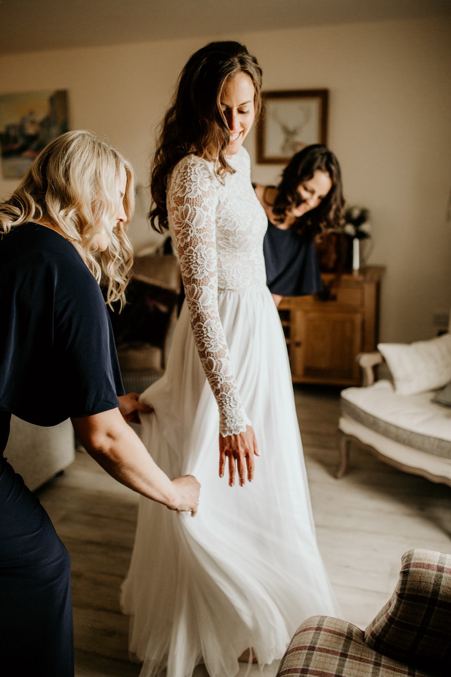 bride wearing a Wear your Love ethical wedding dress