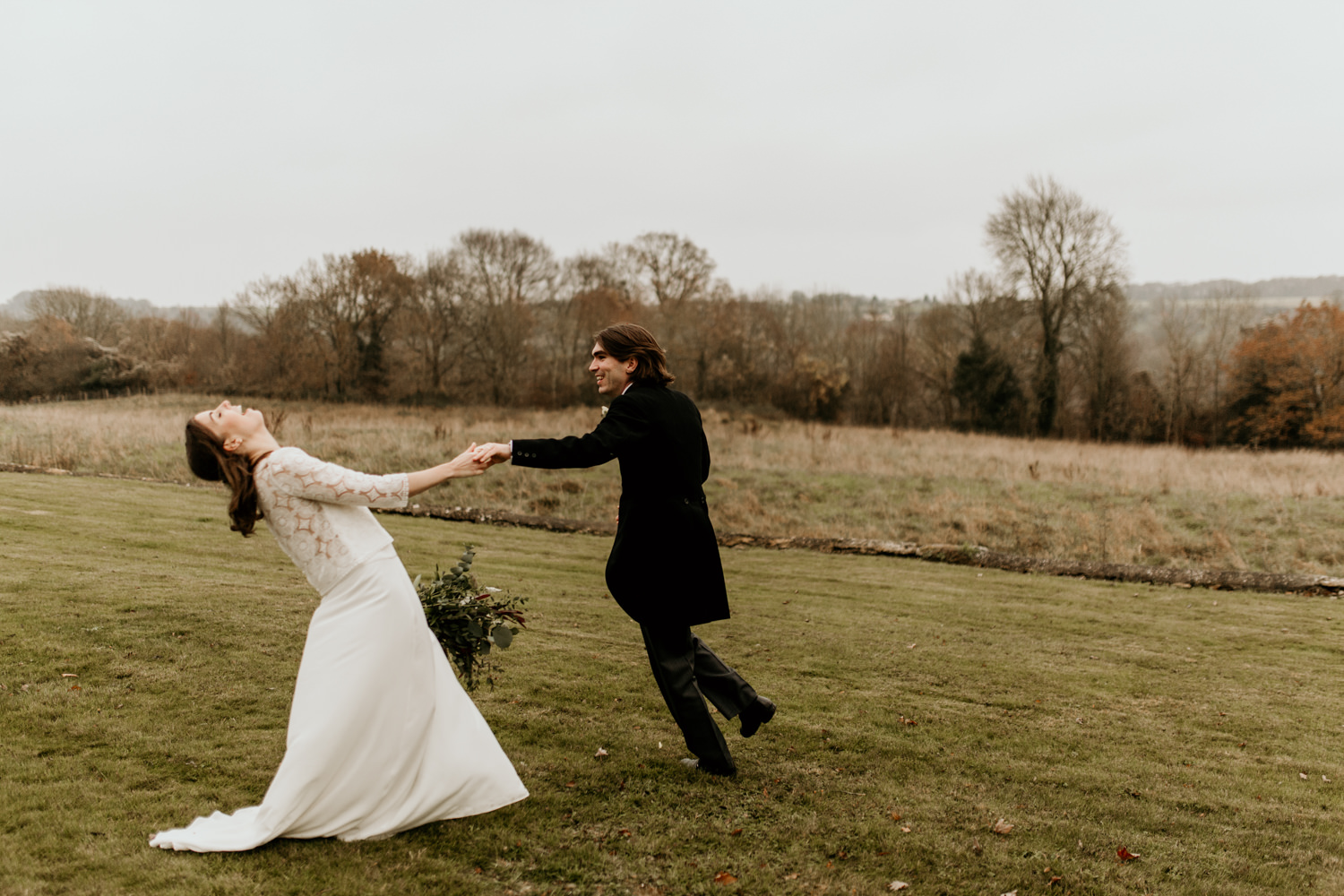 non-traditional wedding portraits in Stroud by Cotswolds Wedding photographers