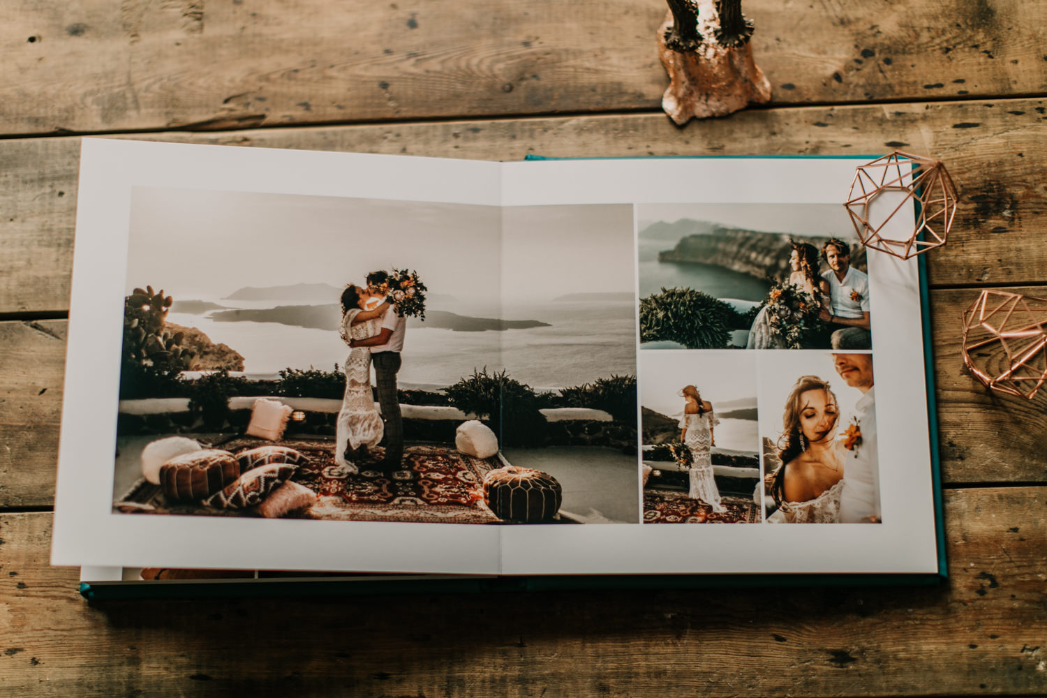 completely flat wedding album sample