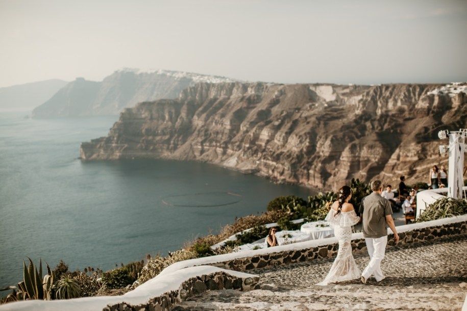 Santorini wedding at Venetsanos Winery
