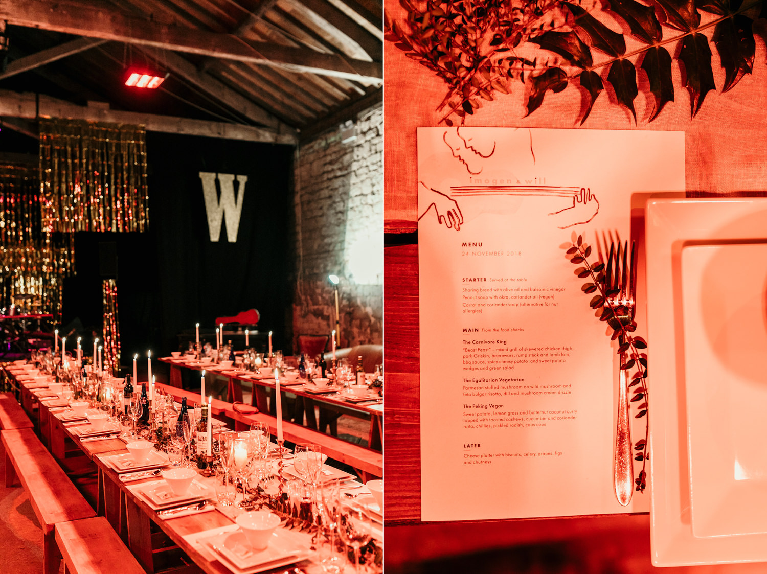 wedding reception at a Stroud Wedding by Cotswolds wedding photographer