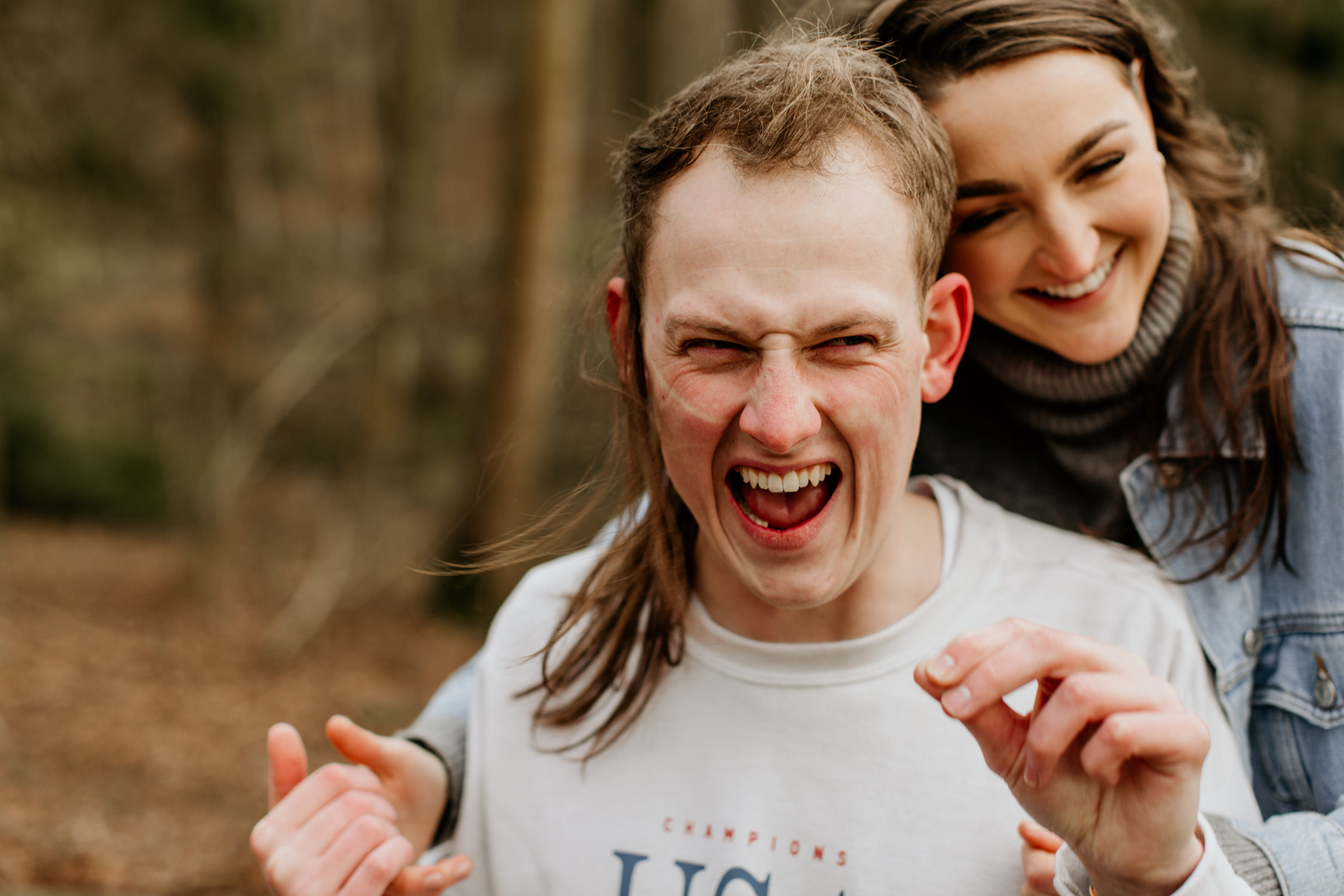 fun couple session near Broadway village in the Cotswolds area