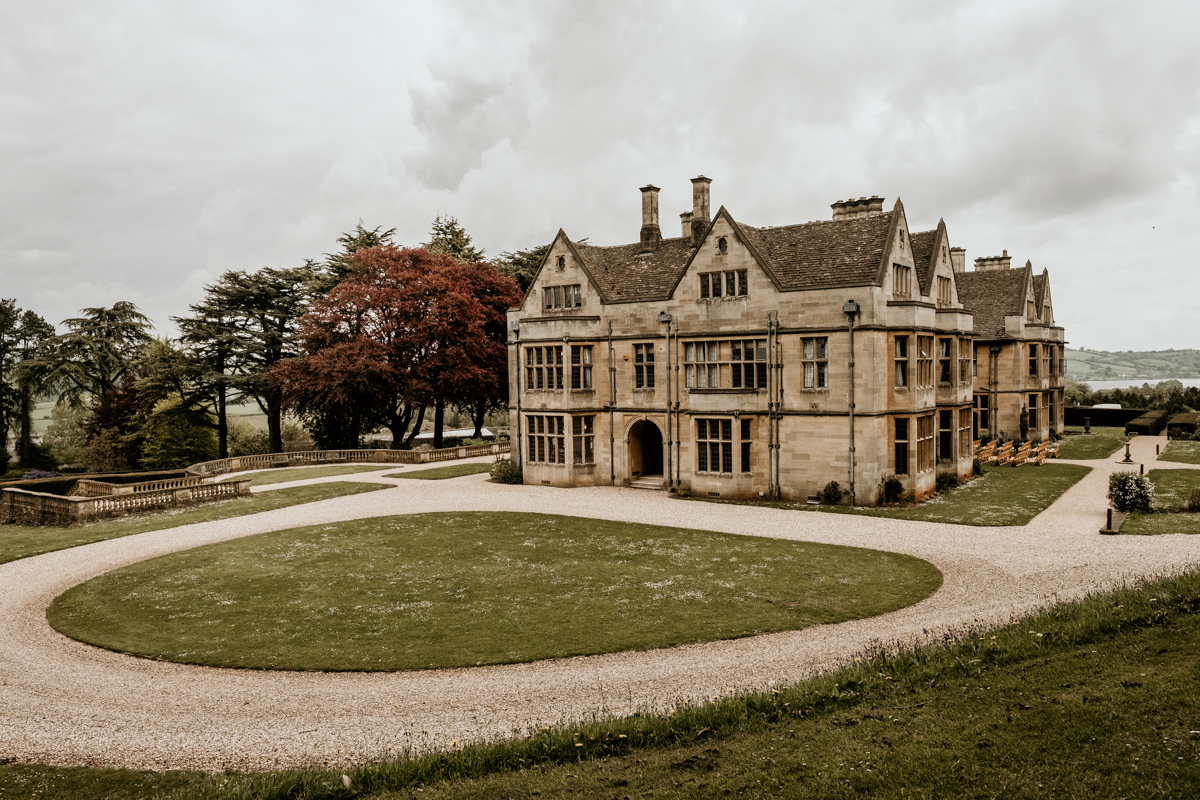 Coombe Lodge Blagdon manor from outside