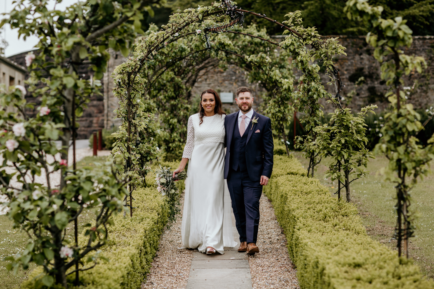 bride and groom during their wedding at Coombe Lodge Blagdon wedding