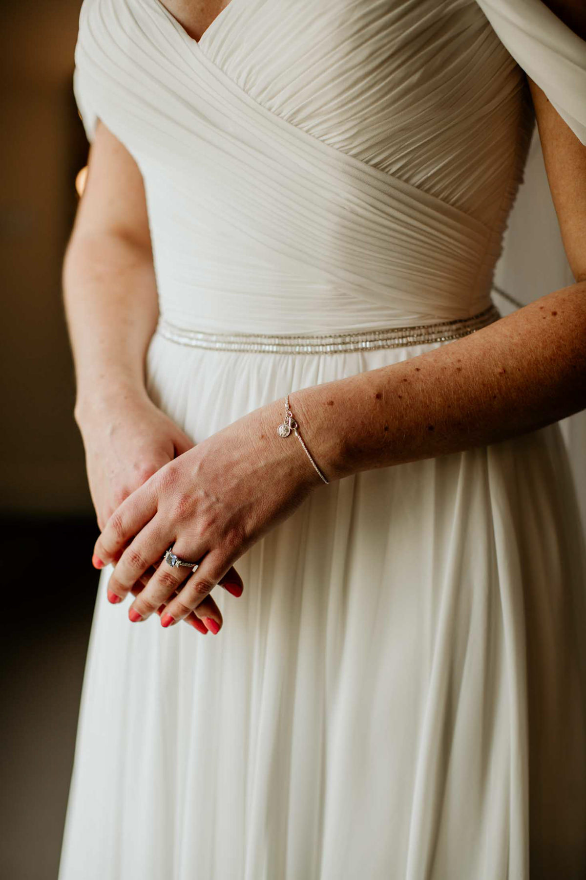 ring and bracelet wedding details for a bride before her wedding day at hyde house