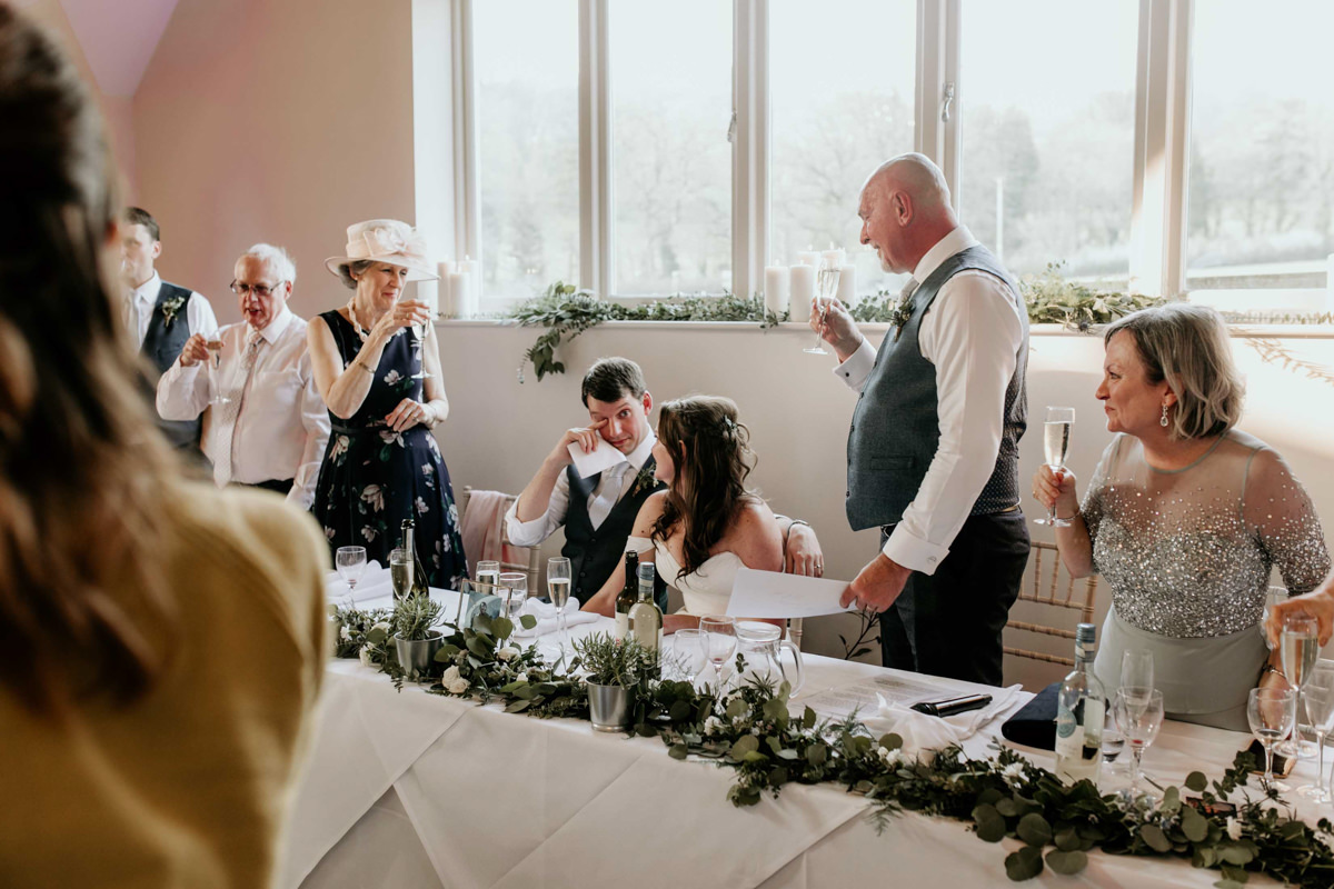 wedding speeches at hyde house wedding venue cotswolds