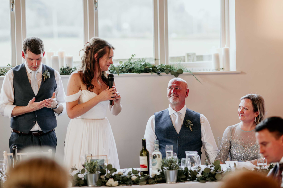 bride speech at hyde house wedding venue