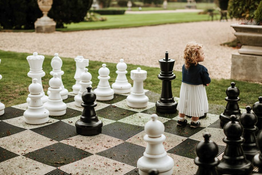 life-size chess for outdoor wedding cocktail hour games