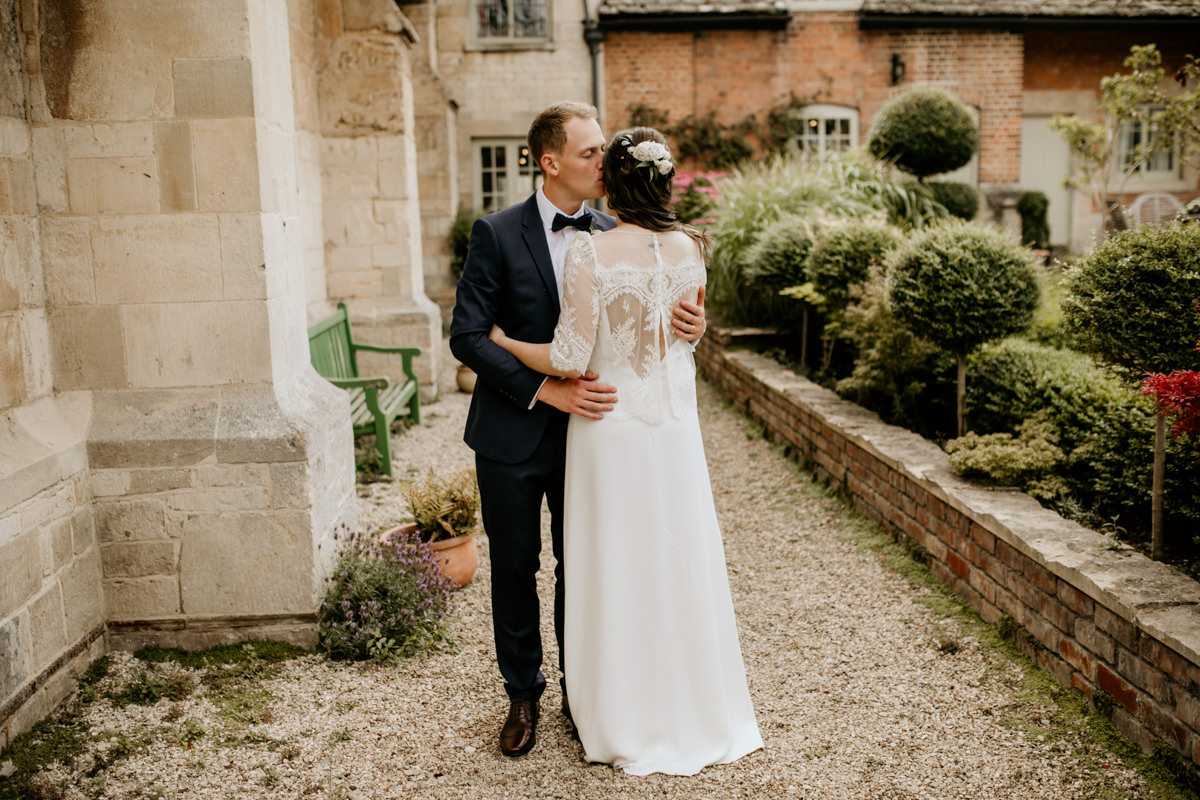bride and groom wedding at Priors Court Barn Gloucester