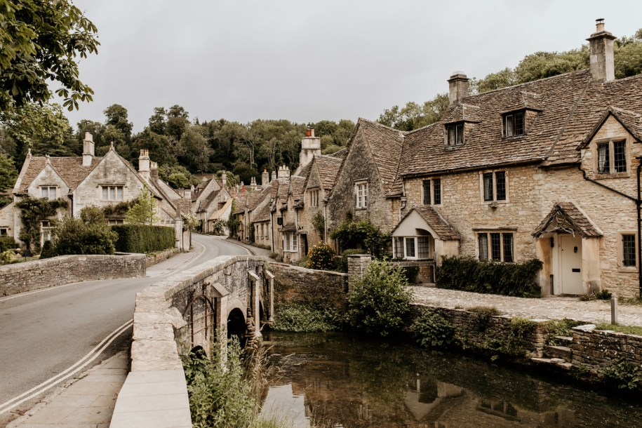view of castle combe village, one of the prettiest Cotswolds hidden gems