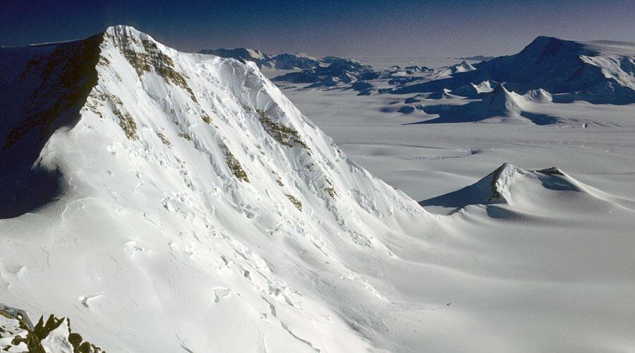 Fossiles d'océan trouvés dans les montagnes Transantarctique
