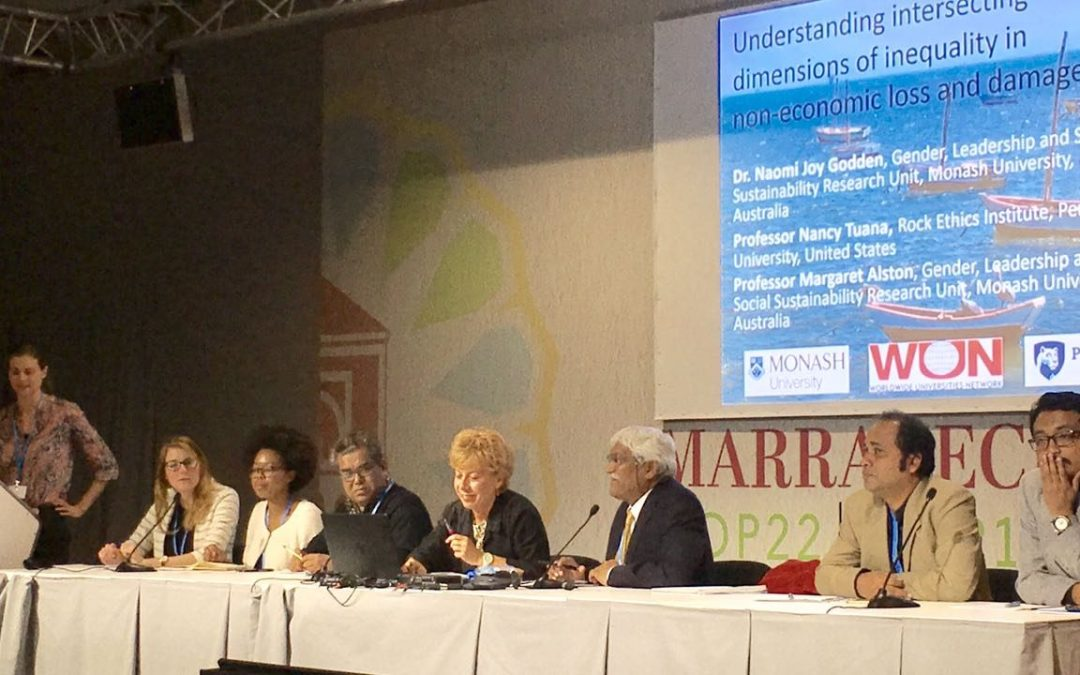 COP22 Panels Explain tie between climate resiliency and natural disasters
