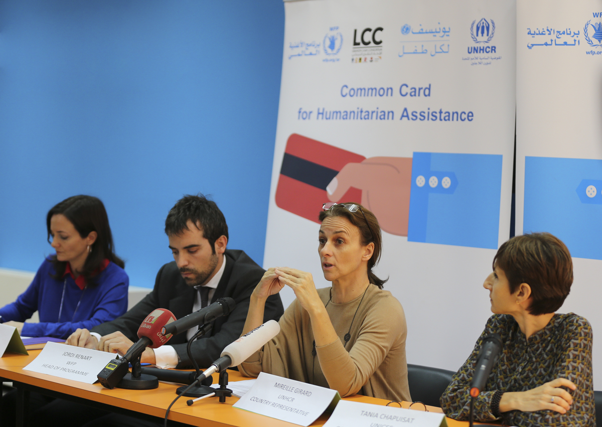 Aid agencies launch 'common cards' to facilitate access to humanitarian assistance in Lebanon