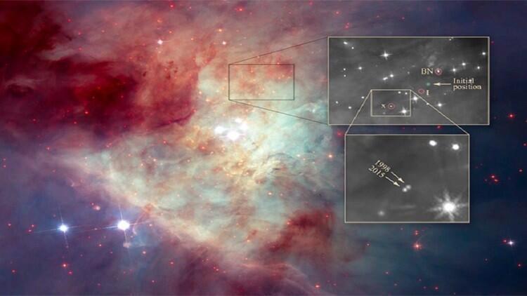 """العثور على نجوم هاربة من سديم """"الجبار"""""""