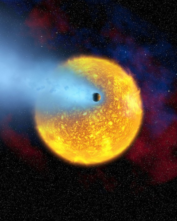 Giant Planet Outside The Solar System Shows Stratospheric Evidence