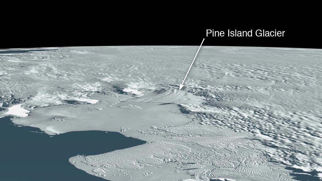 A huge iceberg broke off a glacier in Antarctica