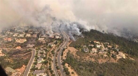 خسائر حرائق كاليفورنيا .. بالفيديو
