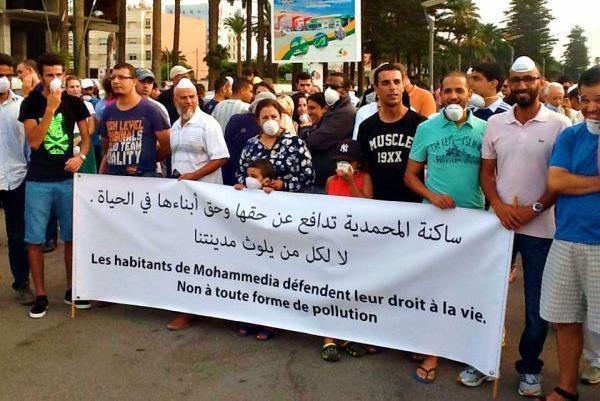 سكان المحمدية- المغرب ينتفضون .. وضع بيئي متردّ