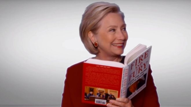 Fire and Fury over Hillary Clinton's Grammy cameo