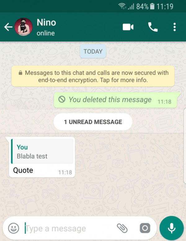 حذف الرسائل على واتساب .. قد يورّطك!