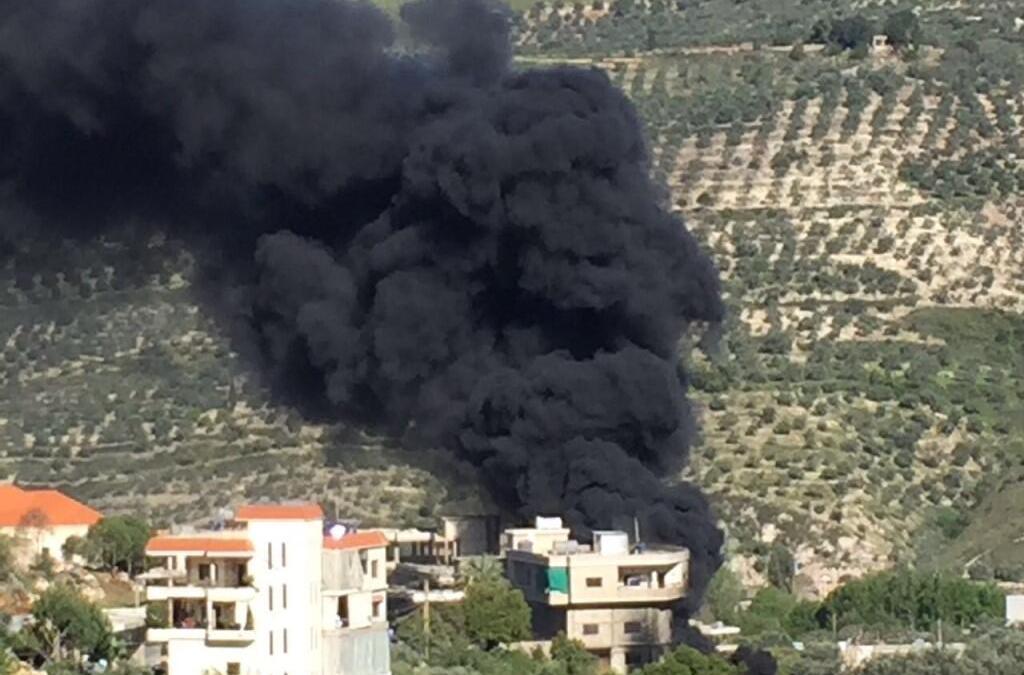 حريق محطة محروقات في حاصبيا يهدد المنازل المجاورة