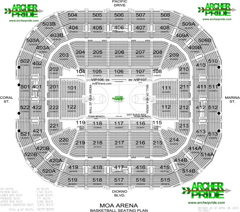 THE VENUES AND THEIR SEATING MAPS FOR UAAP SEASON 75