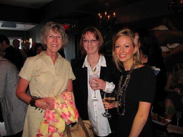 My high-school English teacher Ms. Carrier, alongside my mum and sister