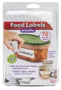reusable food labels