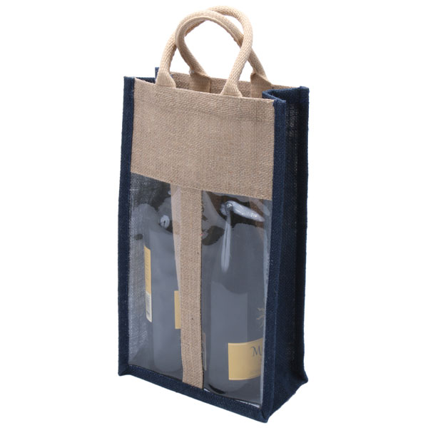 2 Bottle Natural Eco-friendly Jute Wine Bag