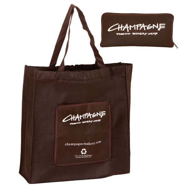 Eco-friendly folded bag - brown