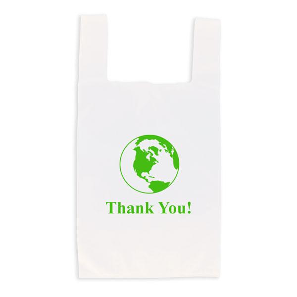 Eco-friendly reusable t-shirt bag - white
