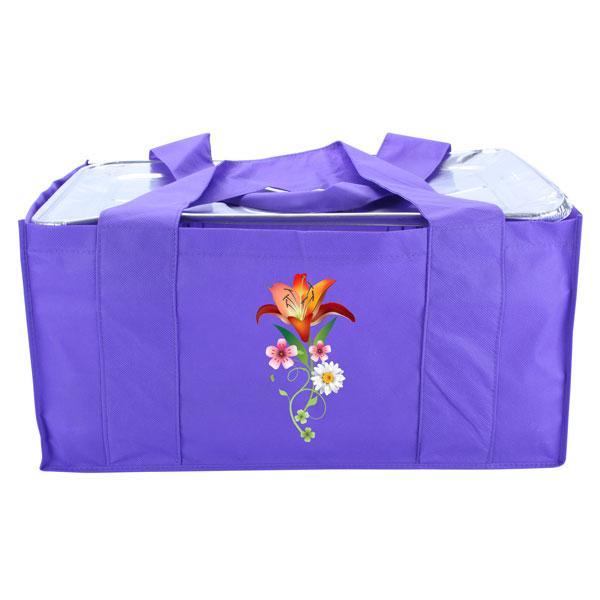 Eco-friendly reusable catering bag - purple