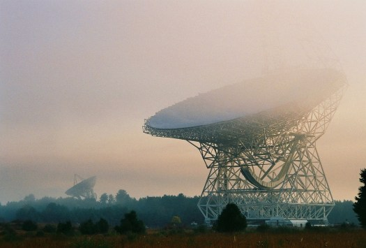 telescopes in the mist