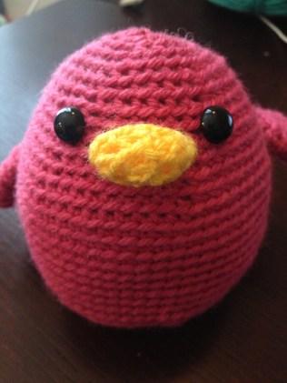 """Pink """"Angry"""" Bird"""