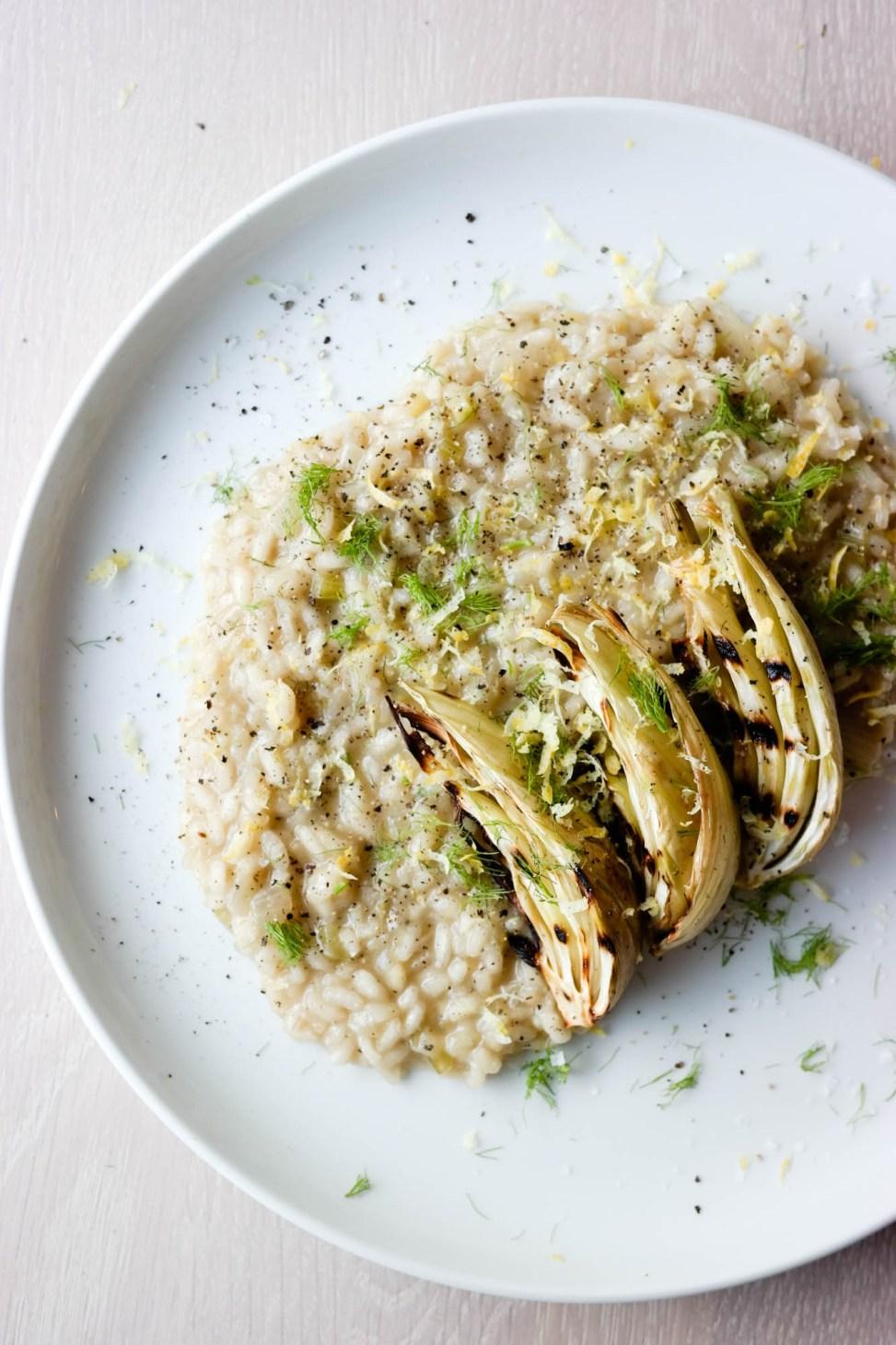 Vegansk fennikel- og sitronrisotto er lettere, syrligere og friskere enn de fleste andre risottoer!