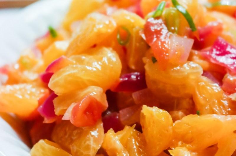 Bytt ut tomatene i salsaen - bruk mandarin istedet!
