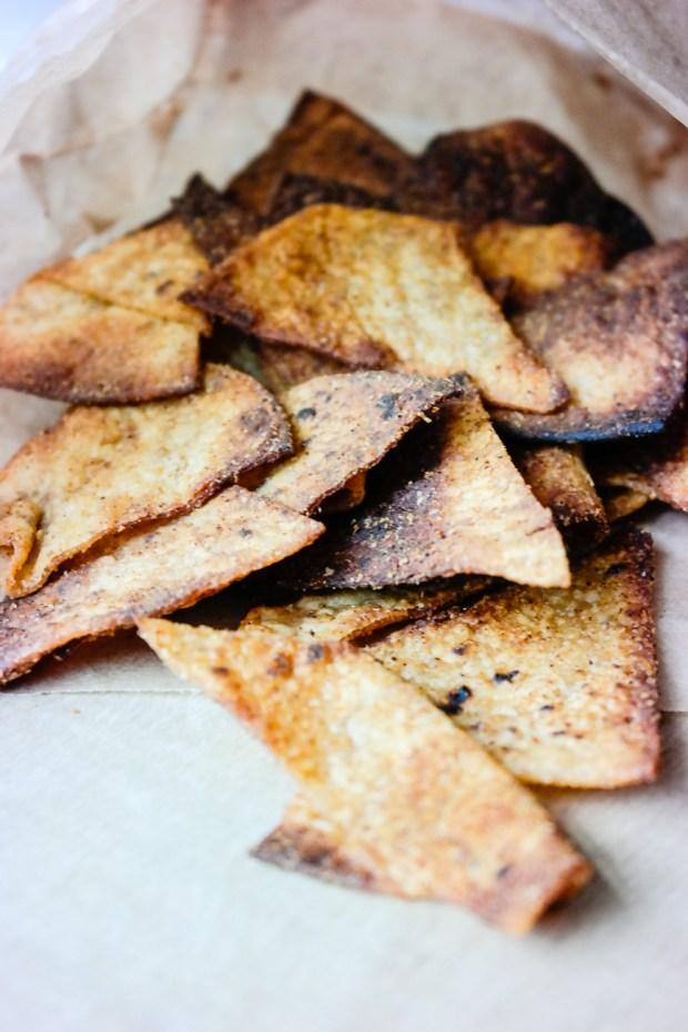 Lag egen doritos av lomper og krydder - helt vegansk!