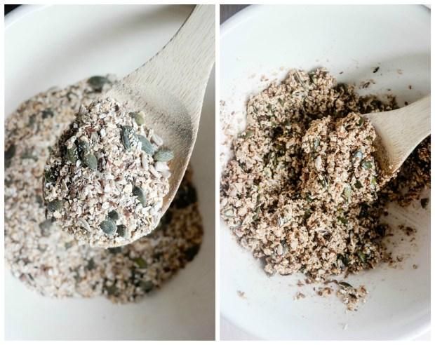 Grunnoppskrift på din egen, hjemmelagede granola! Bruk opp det du har i skuffer og skap.