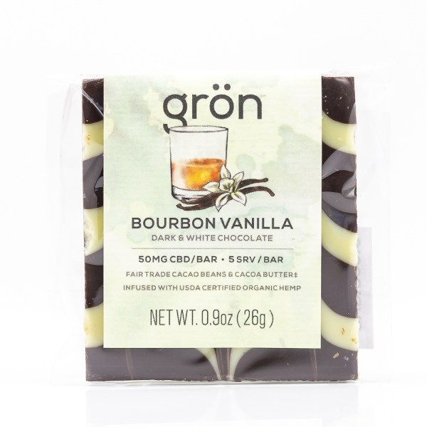 Grön CBD Bourbon Vanilla Dark & White Chocolate Bar