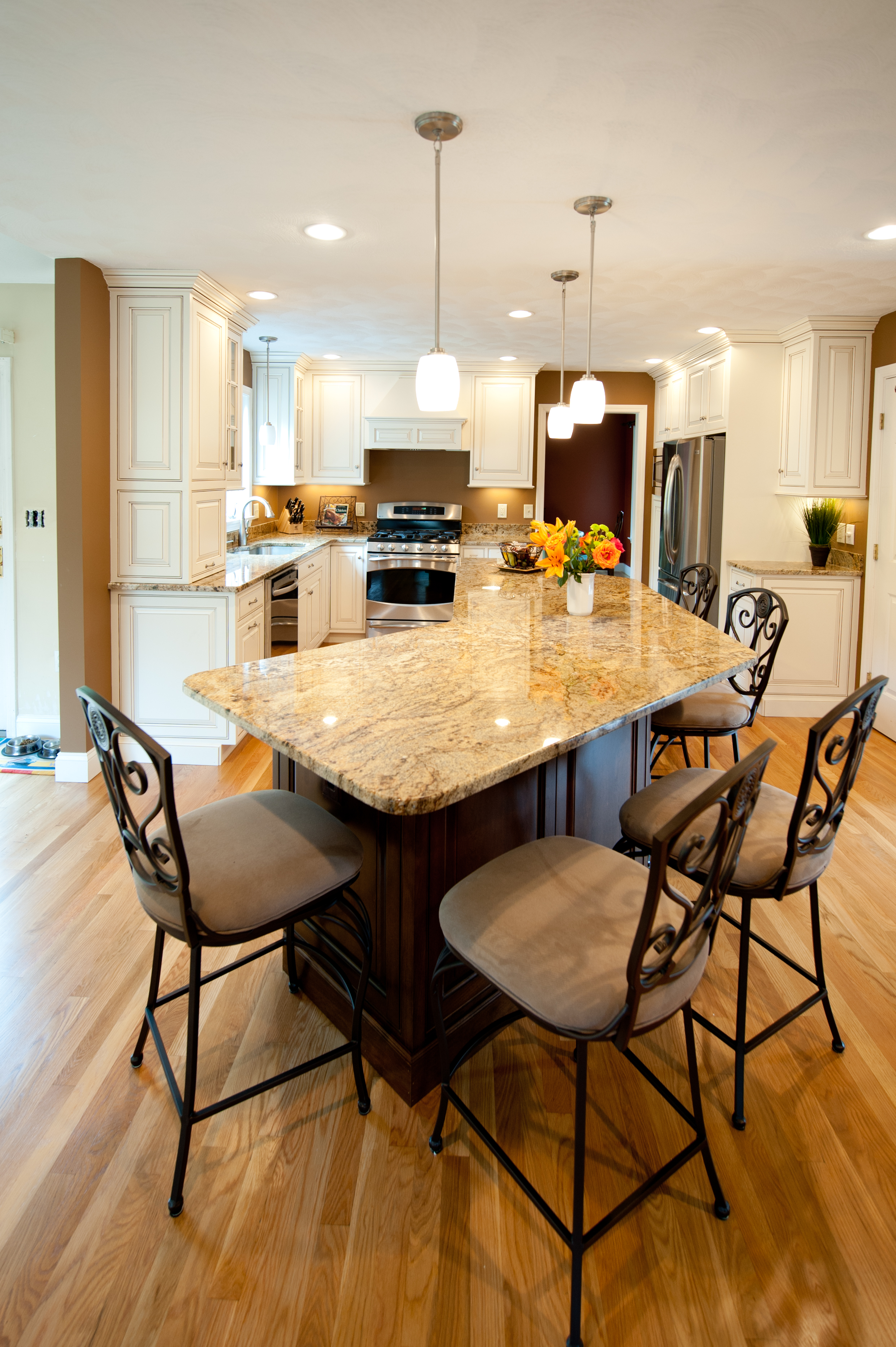 danvers, ma kitchen remodel with custom cabinets | ridgeview