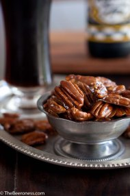 Beer Candied Pecans, adapted from thebeeroness.com