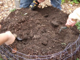 The search became fevered, in a good way, as the potatoes started to become unearthed!