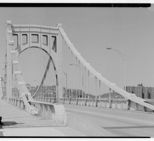 The Rachel Carson Bridge in Pittsburgh