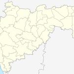 Outlined Map of Maharashtra